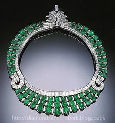 Diamond-necklaces-diamond-and-emerald-necklace-by-Van-Cleef and Arpels -c-1930-this-necklace
