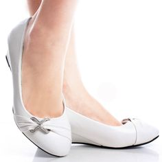 I ordered these today!  Can't wait till they get here....White Comfortable Office Work Fashion Rhinestone Womens Wedge Shoes