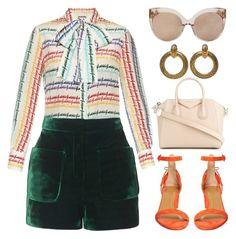 Bigger Dreams by kimeechanga on Polyvore featuring polyvore fashion style Gucci Topshop Aquazzura Givenchy Chanel Linda Farrow clothing