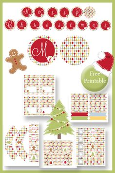 Christmas Party Table Printables - Gingerbread Man - Free (would have been nice to find these before making my own :(