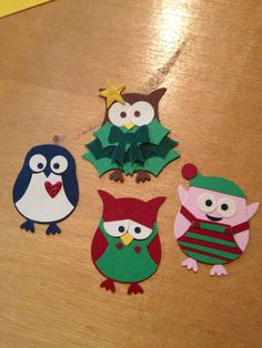 Christmas punch art - stampin up owl punch