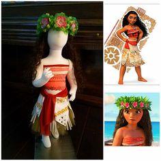 c15c243d7baa6 Moana's outfit /Moana's wreath crown/Princess Moana's outfit/Moana's costume/  Moana's Disney