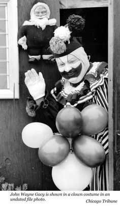 John Wayne Gacy, Jr., was known as the 'clown killer' because of the costume he wore for block parties he threw in his neighborhood in Chicago. He killed 33 young men and boys between 1972 and 1978, burying 27 of them in a crawl space under his house. He got 21 life sentences and 12 death sentences after his conviction, a record-setting punishment.