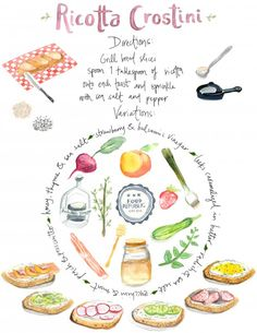 Illustrated Guide: How To Make A Ricotta Crostini, Plus 5 Essential Toppings   Food Republic
