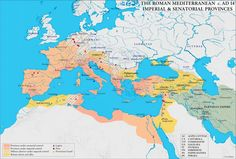 Mapa del Imperio en tiempos de Augusto