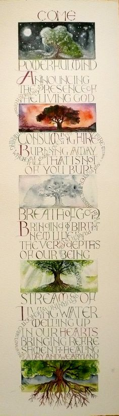 Beautiful Calligraphy by ~ www.tessie.beecoolsplace.net/images/folio/R/come-holy-spirit-original.jpg