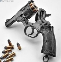 """deepfried-in-southernpride: """"Webley Mark IV chambered in Smith Wesson """" Military Weapons, Weapons Guns, Guns And Ammo, Webley Revolver, Revolver Pistol, Smith And Wesson Revolvers, Smith Wesson, Rifles, Fire Powers"""