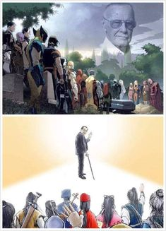 25 Heart-Wrenching Stan Lee Fanart Images That Will Make You Tear Up - Sweetgirl Sarah's Art Gallery - Avengers Art, Marvel Art, Stan Lee Quotes, Thor, Mundo Comic, Marvel Memes, Comic Character, Marvel Cinematic Universe, Anime Manga
