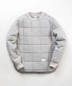 padded woven sweatshirt curved hem