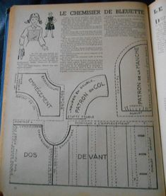 PAR AMOUR DES POUPEES :: 1953-01-01 Le chemisier de Bleuette
