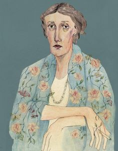 fuckyeahvirginiawoolf: Virginia Woolf, illustrated by Bett Norris.