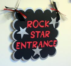 Rock Star or All Star Name Happr Birthday Banner by AngiesDesignz