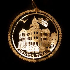 Courthouse on the Square Ornament | DHLF : Denton Holiday Lighting Festival