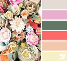 { paper flora } image via: @handmadebysarakim #color #palette #colorpalette #pallet #colour #colourpalette #design #seeds #designseeds