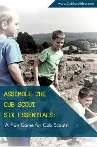 Use this fun game to help teach your Wolf Cub Scouts about the Cub Scout Six Essentials that they need to assemble for the Paws on the Path required adventure.
