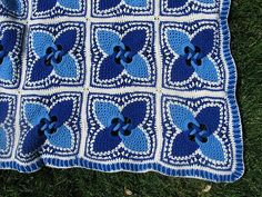 """Project Gallery for Enchanting square 9.7"""" by Patricia Kristoffersen (to 'Absolutely Gorgeous Pineapple Afghans')"""