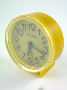 WORKING   Vintage Russian Mechanical Alarm Clock by ContesDeFees