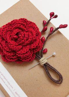 1000+ images about 0 crochet botonier lapel etc on ...