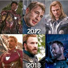 The evolution of the main Avengers; they have come a long way