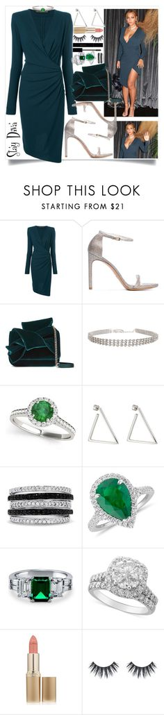 """""""Beyoncé's look"""" by staydiva ❤ liked on Polyvore featuring Alexandre Vauthier, Stuart Weitzman, N°21, Allurez, Jennifer Fisher, Effy Jewelry, Blue Nile, BERRICLE, L'Oréal Paris and Gucci"""