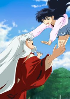 InuYasha x Kagome... talk about true love.... love this anime... fighting for the one you love