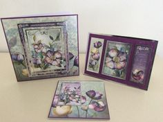 Hunkydory cards. A Touch of Shimmer (1-3)