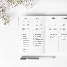 "2,216 Likes, 11 Comments - Marie (@journalspiration) on Instagram: ""I use this kind of future log since I had my very first bullet journal, I've seen a lot of…"""