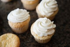 Angel Food cupcakes -- uses a box, which makes it easier. I took out some of the water and added whipped cream vodka to the batter and topping. Good taste and not too overpowering with the vodka. -J