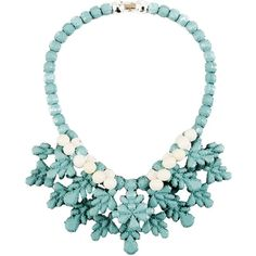 Ek Thongprasert Necklace (€340) ❤ liked on Polyvore featuring jewelry, necklaces, turquoise, ek thongprasert, ek thongprasert jewelry, two tone jewelry and two tone necklace