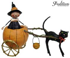 *HALLOWEEN ~ Lori Mitchell Folk art