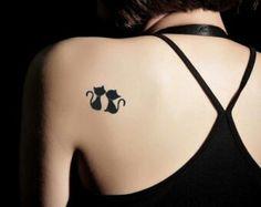 Kissing kittens tattoo