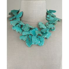 Nest Chunky Turquoise Necklace ($245) ❤ liked on Polyvore