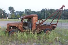 Rusty old tow truck.