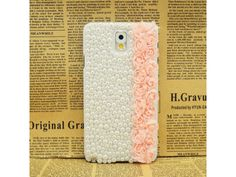 3D Lace Pink Rose + Pearls Samsung Galaxy Note 3 Case From: http://fashion9shop.com/3d-lace-pink-rose-pearls-samsung-galaxy-note-3-case.html