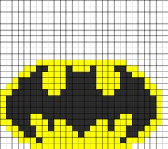 batman fusebead bead pattern