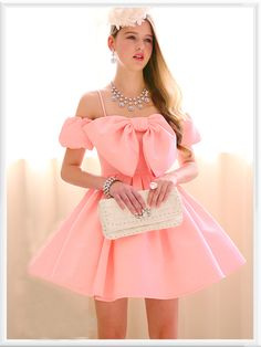 Morpheus Boutique  - Pink Bow Ruffle Pleated Bow Strap Dress, $139.99 (http://www.morpheusboutique.com/pink-bow-ruffle-pleated-bow-strap-dress/)