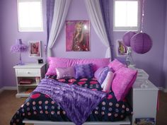 Interesting Layout With Book Shelf Along The Side Of Bed Good Idea For A Child Without Hannah Montana