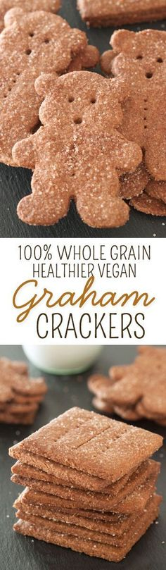 Once you try these 100% whole wheat and vegan graham crackers, you'll never go back to store-bought!