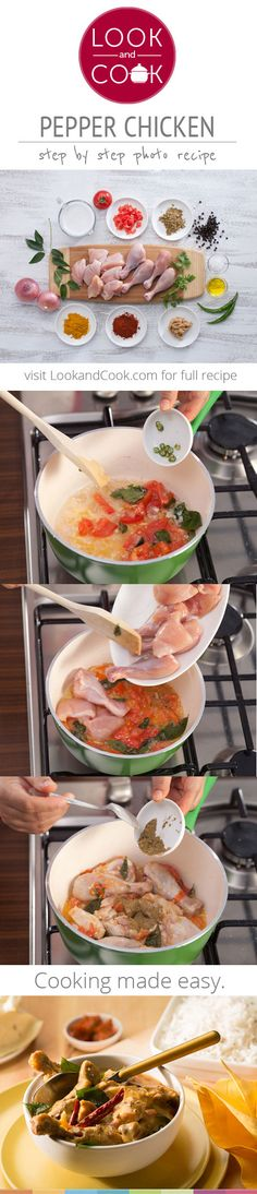PEPPER CHICKEN RECIPE PEPPER CHICKEN RECIPE (#LC14016): This indian style Pepper chicken recipe, is a spicy curry dish made with coconut milk. Pepper chicken is best eaten with rice.