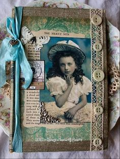 altered book cover by Paper Whimsy