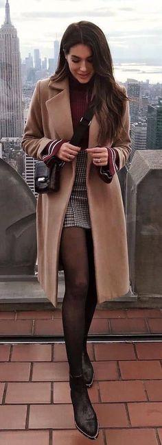 150 Fall Outfits to Copy Right Now Vol. 2 / 016 150 Fall Outfits to Copy Right Now Vo Winter Outfits For Teen Girls, Classy Winter Outfits, Winter Outfits Women, College Winter Outfits, Winter Birthday Outfits, Skirt Outfits For Winter, Classy Casual, Casual Outfits, Nyc Fashion