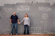 Drawn together engagement photo