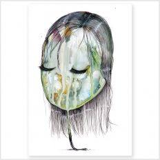 Skønne akvareller fra Joanna Jensen på Moodings.com Danish Design, Fine Art Paper, Dream Catcher, Watercolor, Art Prints, Artwork, Etsy, Print Poster, Illustrations