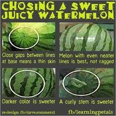 Ive always tapped on the melon....will try this next time