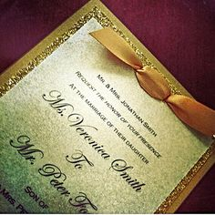 Hey, I found this really awesome Etsy listing at http://www.etsy.com/listing/130284963/gold-glitter-glamour-wedding-invitation