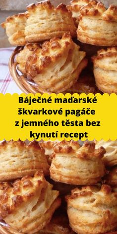 Slovak Recipes, Hungarian Recipes, Bread And Pastries, Savory Snacks, Pavlova, I Foods, Side Dishes, Bakery, Good Food