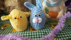 Easter Egg Cover,Bunny and Chick egg cover,Plastic egg cover,Easter basket filler by SandSCraftsandMore on Etsy