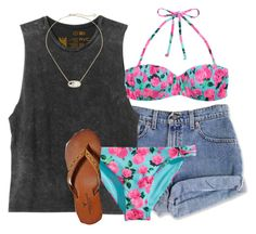 """""""SB SB SB!!!"""" by chelseaxox0 ❤ liked on Polyvore featuring RVCA, H&M, American Eagle Outfitters and Kendra Scott"""