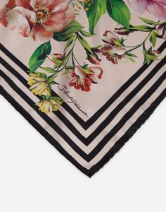 TWILL FOULARD WITH MIXED FLORAL PRINT 70 X 70CM- 27.5 X 27.5 INCHES Dolce Gabbana Logo, Scarf Design, Data Sheets, Silk Scarves, Womens Scarves, All The Colors, Women Accessories, Give It To Me, Projects To Try
