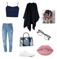 """""""Untitled #119"""" by heartless99 ❤ liked on Polyvore featuring Levi's, WearAll, Acne Studios, Converse, MICHAEL Michael Kors and Lime Crime"""